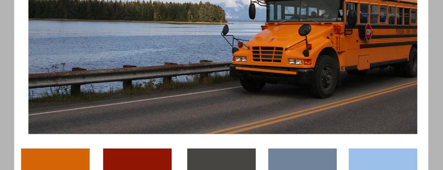 Color Formula 14: Yellow School Bus Days